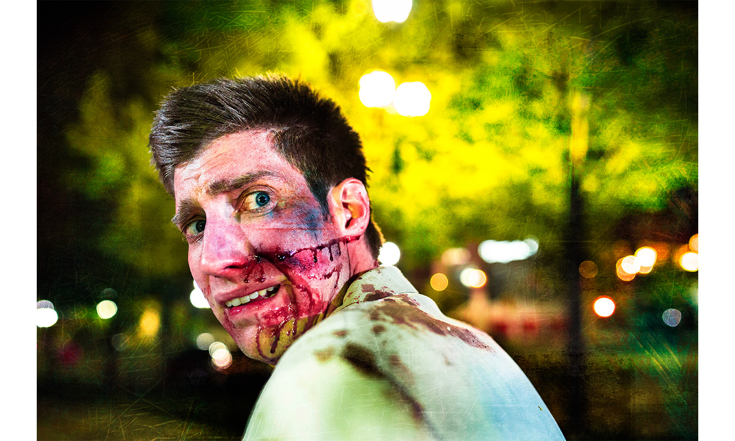 Groom terrified Zombie Wedding