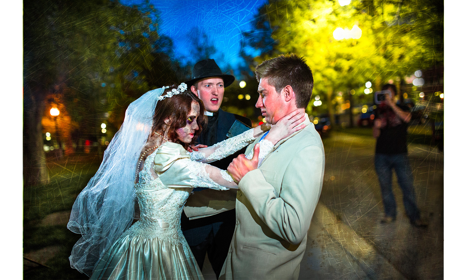 bride turns into zoombie Zombie Wedding