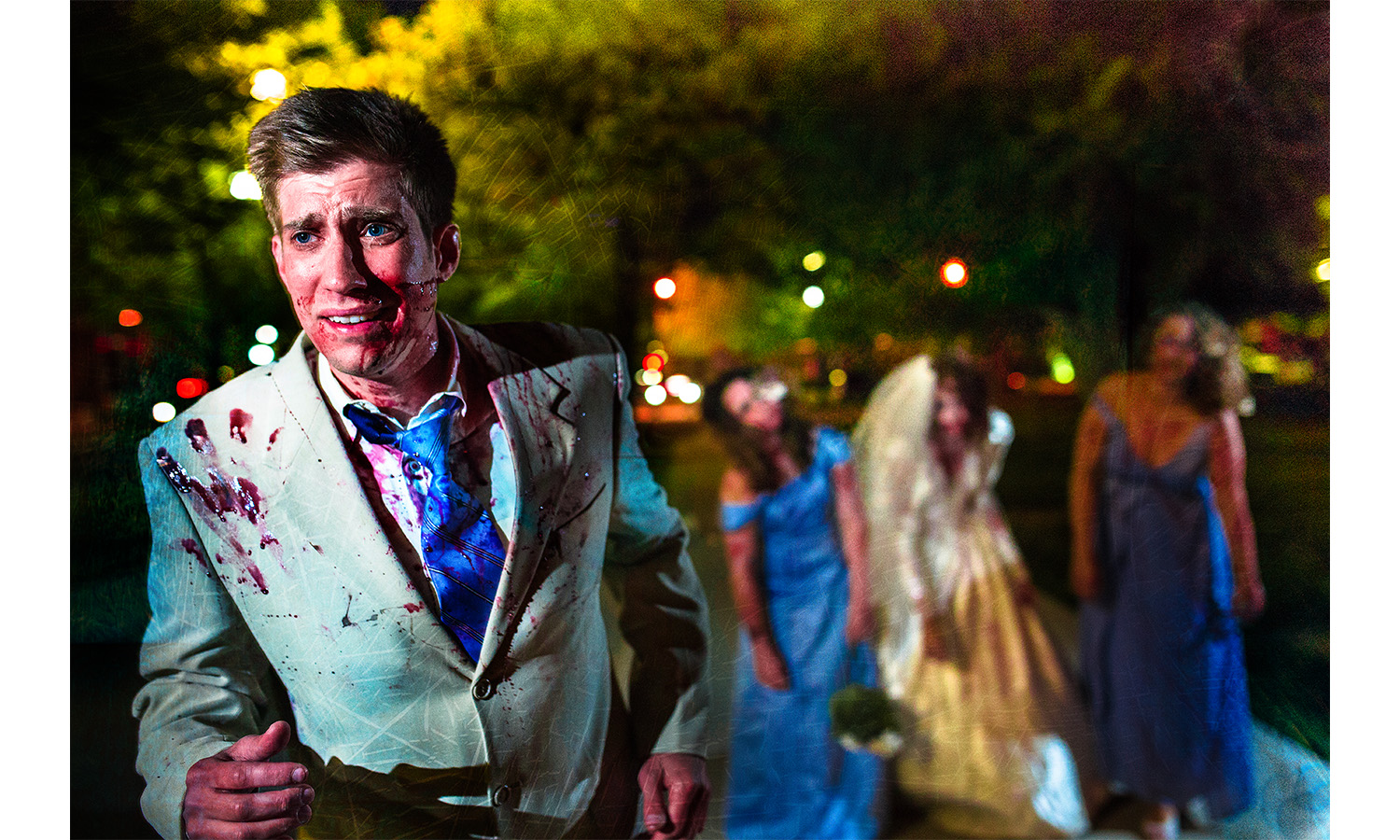groom runs for life zoombies attack Zombie Wedding