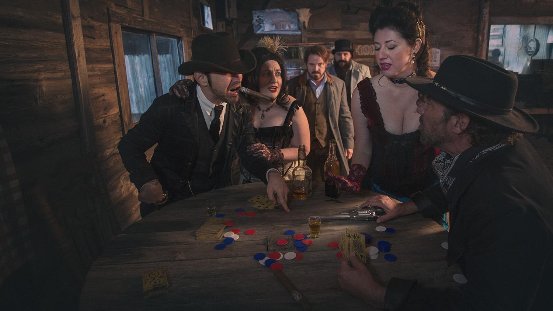 gambling scene western saloon Old Western