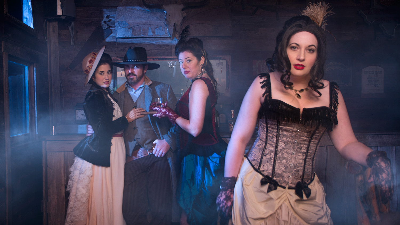 saloon scene western Wild West at J Loraine Ghost Town